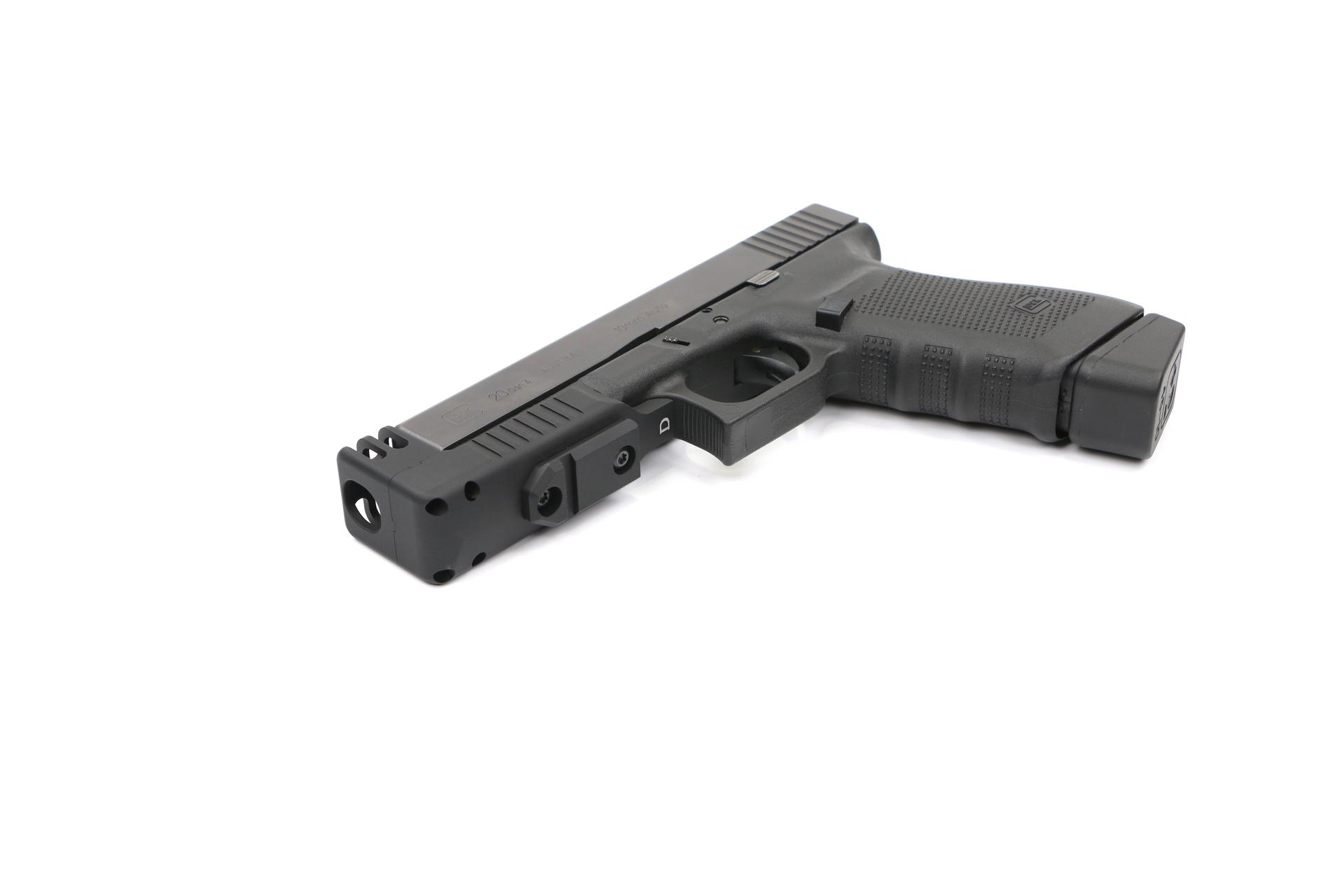 COMPENSATED GLOCK STAND OFF DEVICE W/RAIL 20/21
